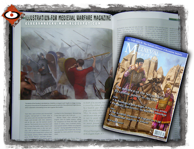 Photo of my illustration included in Mediaval Warfare III.3 Magazine