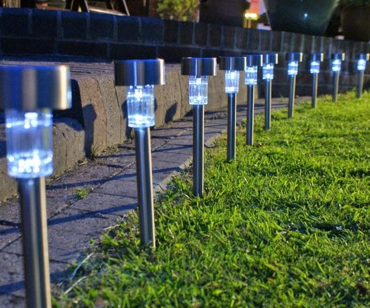 Lampu Taman LV Tenaga surya Otomatis Tanpa Listrik , dan tanpa Kabel