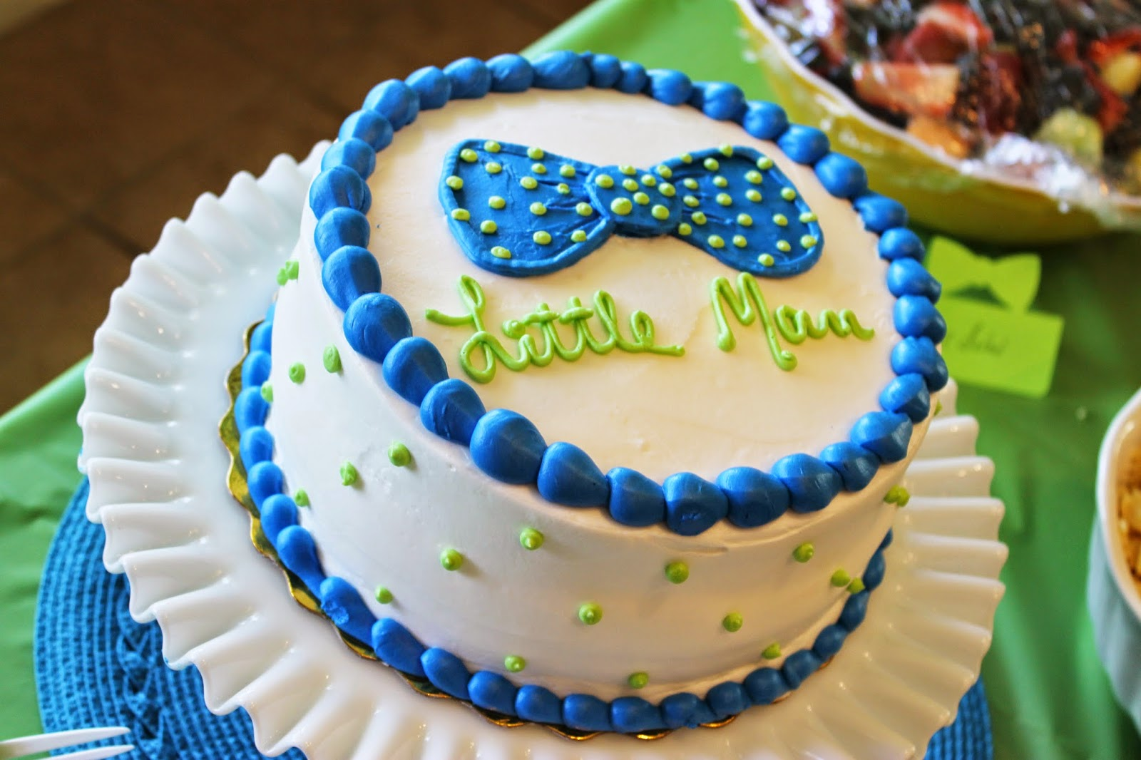 Tiffzippy Baby Shower - Little Man Cake