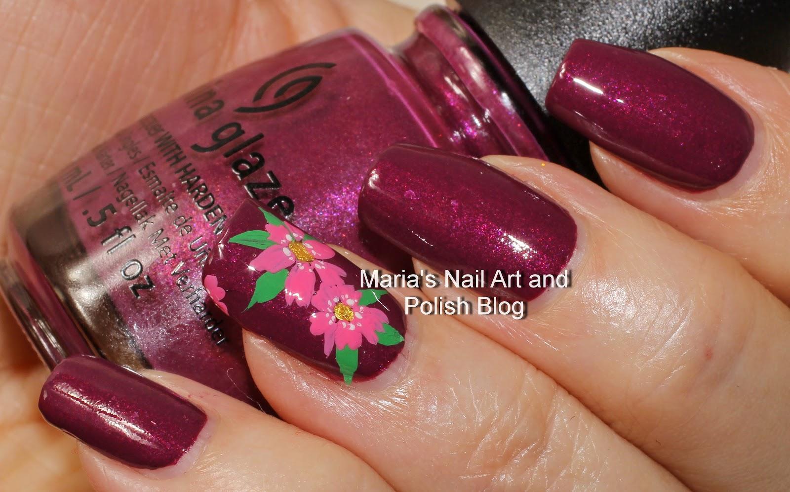 Marias Nail Art and Polish Blog: Nice Caboose floral nail art