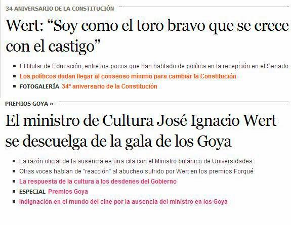 El ministro de Cultura, ausente en los Goya por problemas de agenda