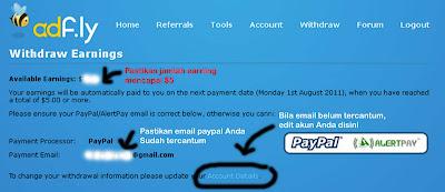 Cara Transfer Uang Dari adf.ly ke Akun Paypal