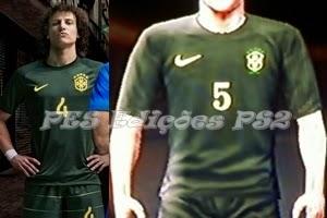 Uniforme Brasil 2014 PES PS2 Copa do Mundo