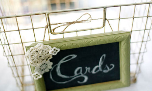 and turn it into a rustic card box Found via Emmaline Bride