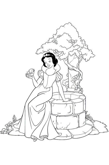 صورة الأميرة تجلس على بئر الماء
