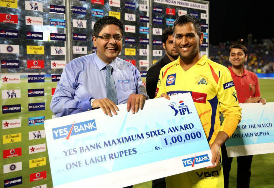 MS-Dhoni-YES-BANK-maximum-sixes-PWI-vs-CSK-IPL-2013