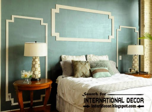 decorative wall molding or wall moulding designs ideas and panels for bedroom - Moulding Designs For Walls