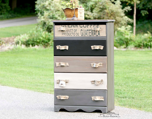 Coffee Sack Painted Dresser, Bliss-Ranch.com
