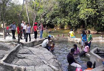 Refreshing dip: A hot spring near a stream found off the Simpang Pulai-Cameron Highlands road