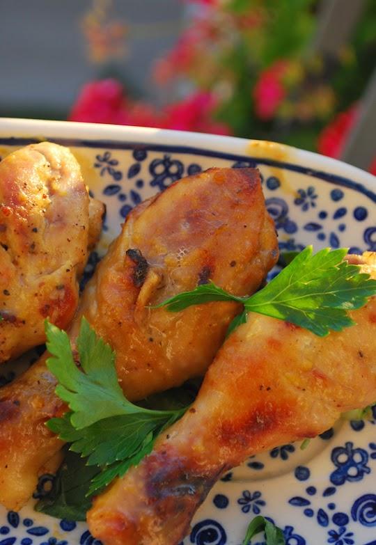 Udka kurczaka w miodowo- musztardowej marynacie