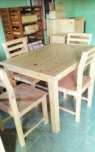 contoh meja 4 kursi sederhana