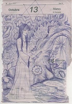 Dibujo realizado por Marcia De Ávila- Paititi 2010