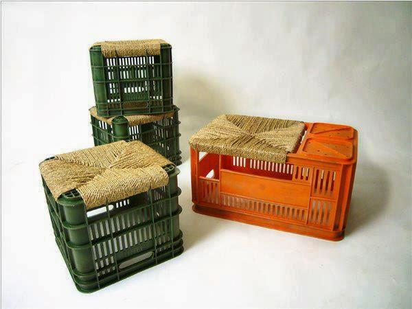 Decoración cajas de plástico