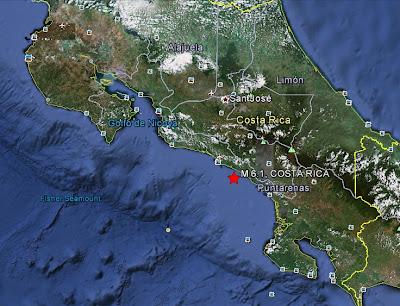 sismo Costa Rica 13 de Febrero de 2012