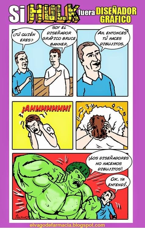 Si Hulk fuera diseñador gráfico...