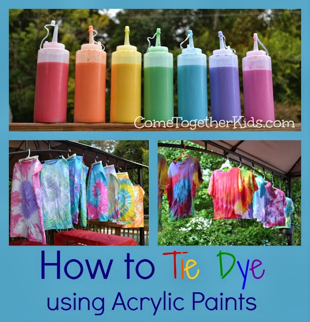 come together kids how to tie dye with acrylic paints. Black Bedroom Furniture Sets. Home Design Ideas