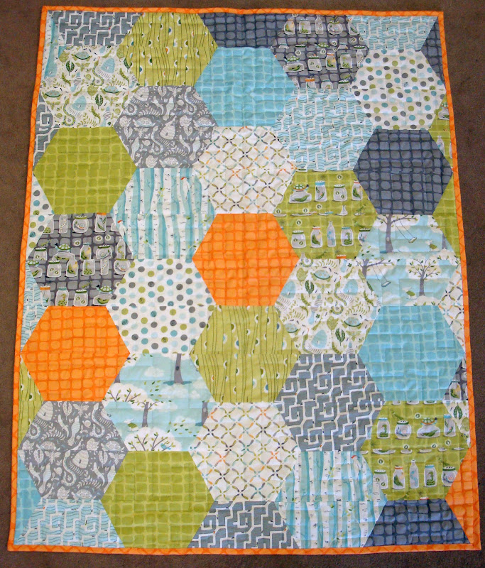 Hexagon Quilt Patterns Designs Dog