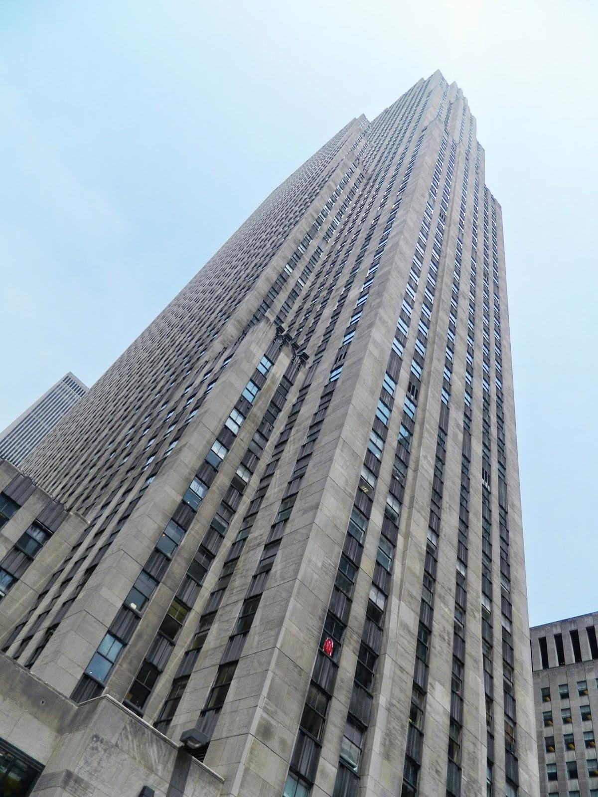 new york city Rockefeller Center architecture high tall sky sunny