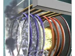 Imagen del aprovechamiento de la condensación en el interior de una caldera