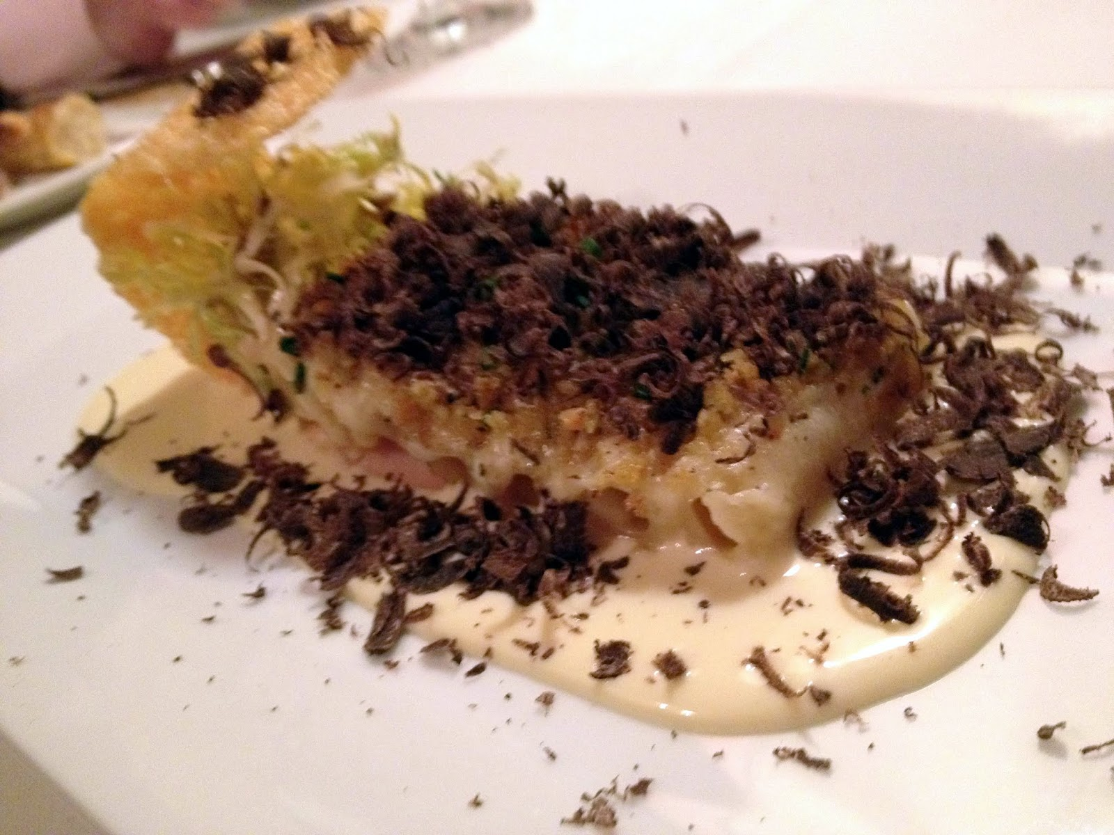 macaroni cheese with fresh shaved truffles
