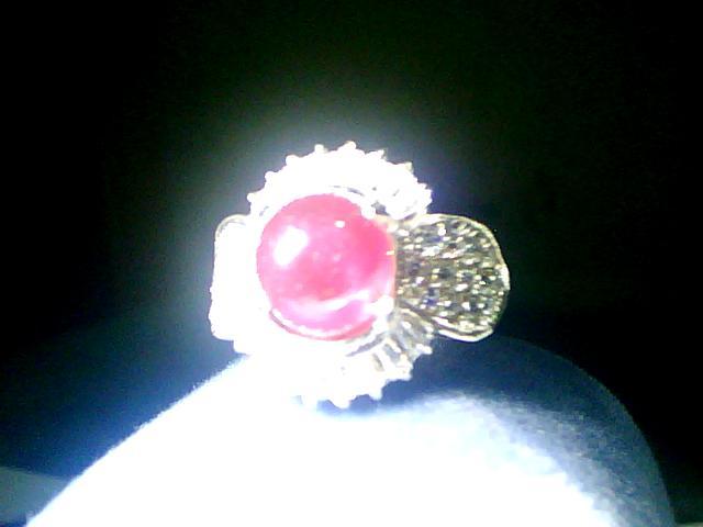 Batu Cincin Ruby Star Mozambique