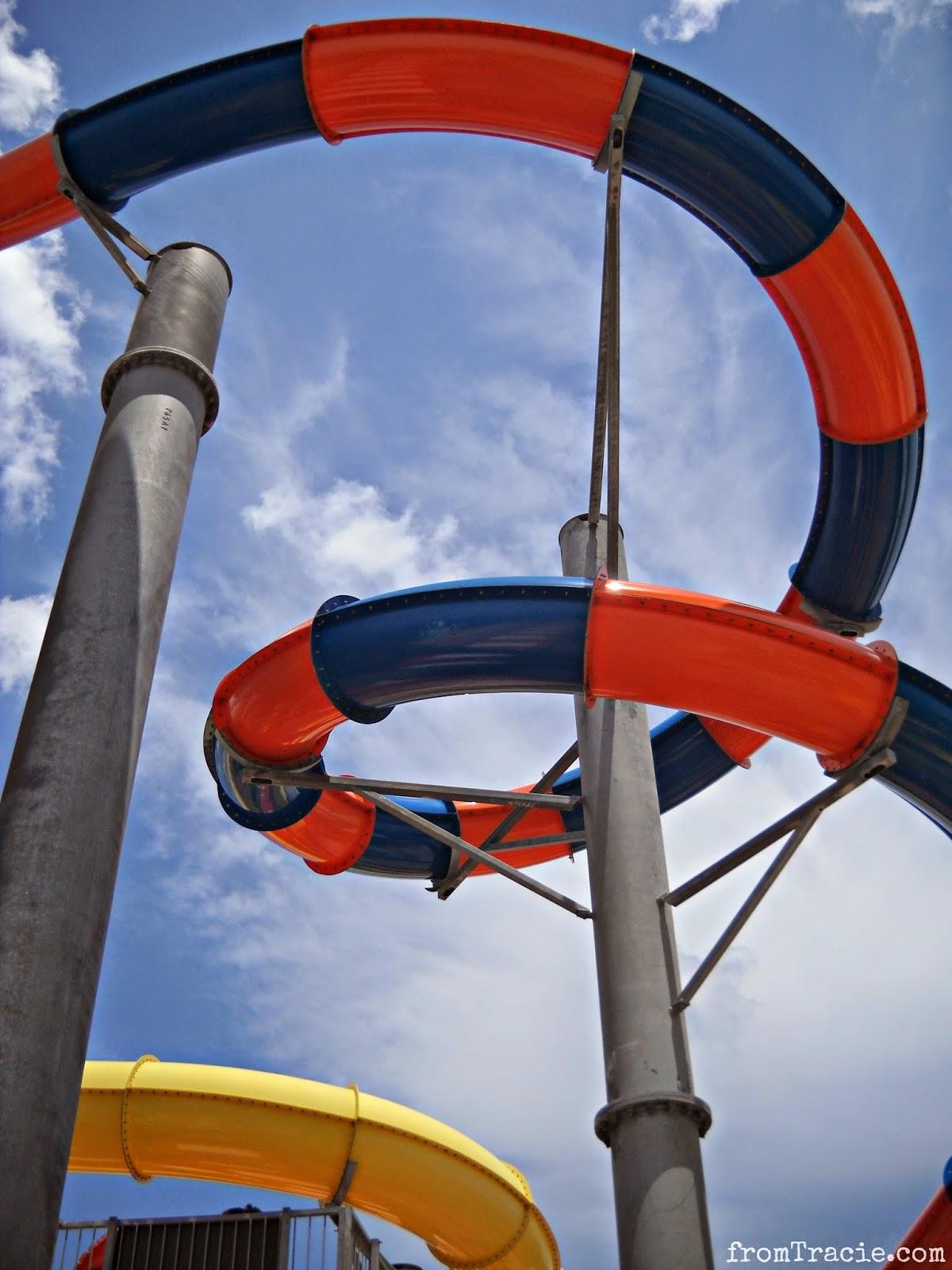 tall water slide tube