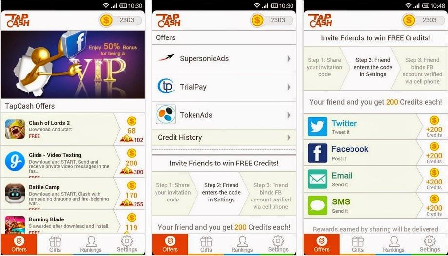 Cara Mendapatkan Dollar Gratis di Android Melalui Aplikasi Tap Cash Rewards