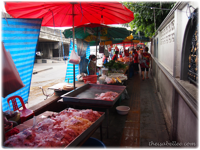 Wet market in Minburi Thailand