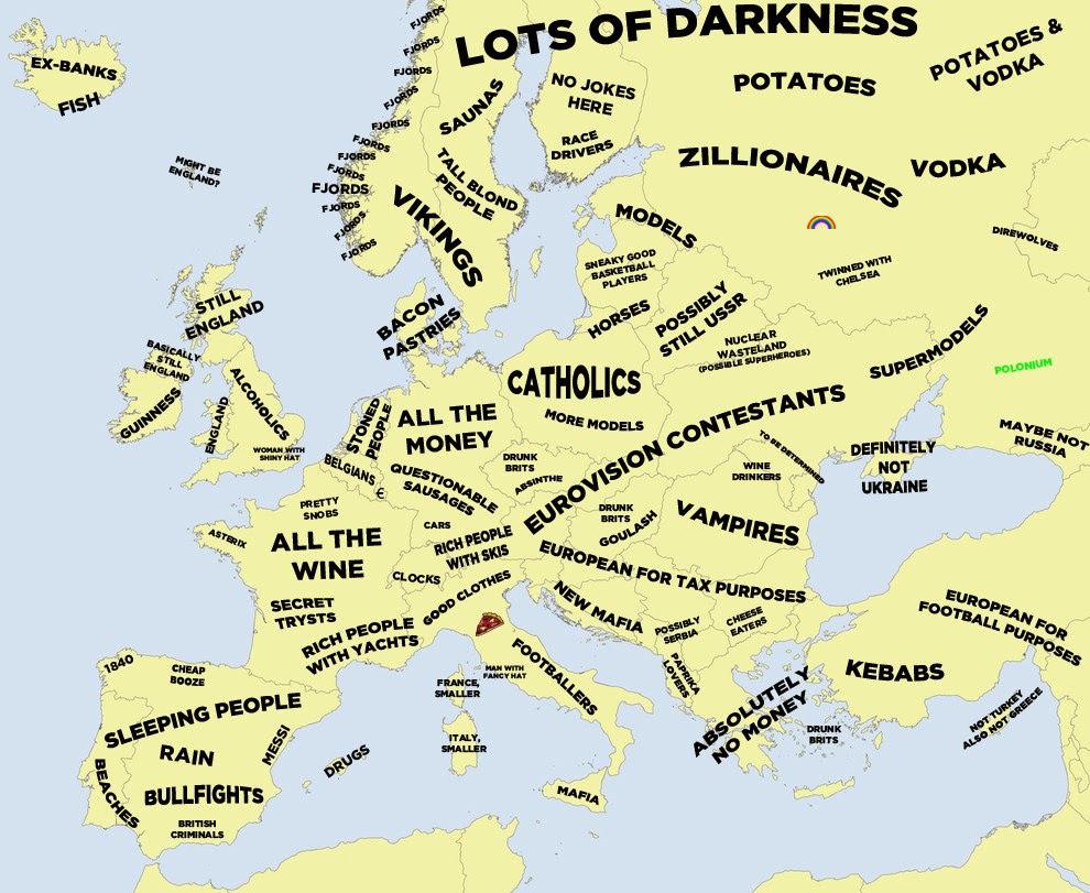 ヨーロッパ 欧州 ステレオタイプ ドイツ イタリア スペイン イギリス