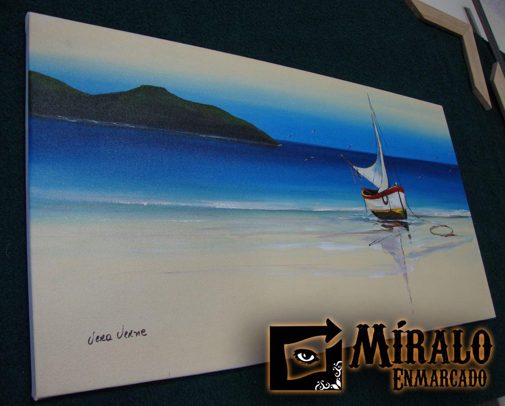 Montado de lienzo en bastidor y enmarcado marco chato - Enmarcar lienzo ...