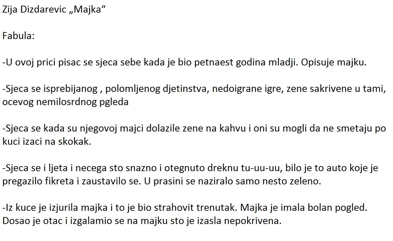 Prepricana pripovetka Majka Zija Dizdarevic