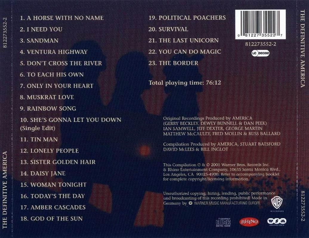 America - The Definitive America (2001)