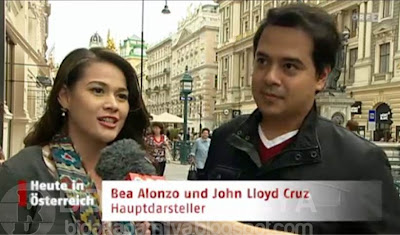 Bea Alonzo and John Lloyd Cruz interviewed by a Local Austrian News