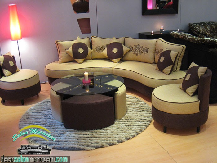 Boutique salon marocain 2016 2017 canap marocain for Salon moderne beige marron