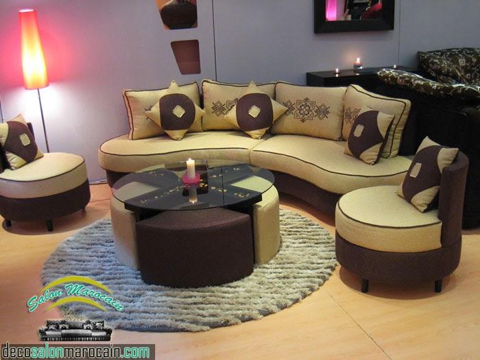 salon marocain beige | Decoration marocaine