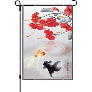 Asian garden flag