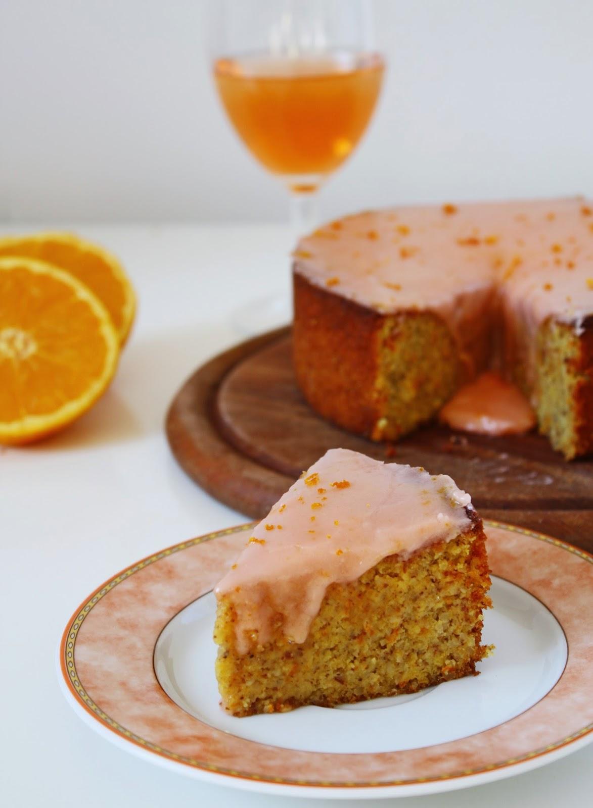 Glutenfreier Spnanischer Mandel Orangen Kuchen mit Aperol Glasur