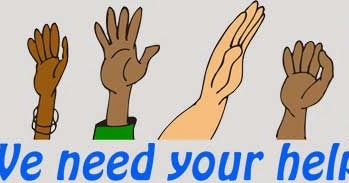 funfreeclipart   hands raised   we need your help   fun