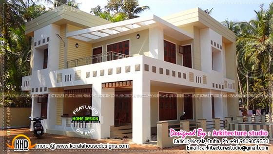 Finished house in Kerala