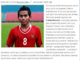 andik direkomendasikan dikontrak bergabung resmi kontrak di beli ke inter milan dan Liverpool messi indonesia