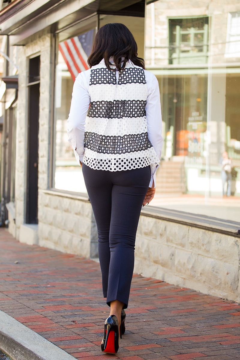 Fall work style, 9 to 5 style, anthropologie top, jadore-fashion.com