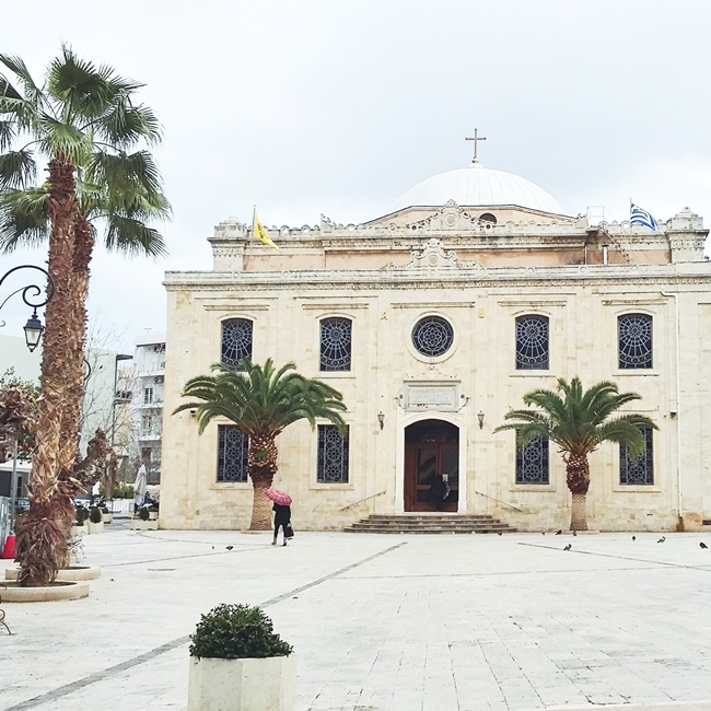 Jelena Zivanovic Instagram @lelazivanovic.Glam fab week.Church of Agios Titos,Heraklion,Crete.