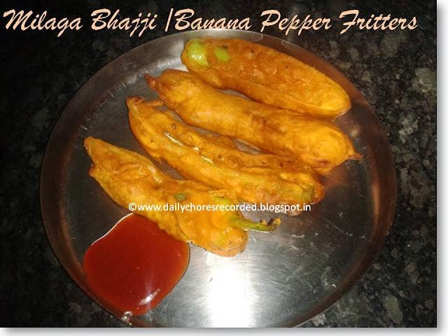 Milaga Bhaji | Banana Pepper Fritters