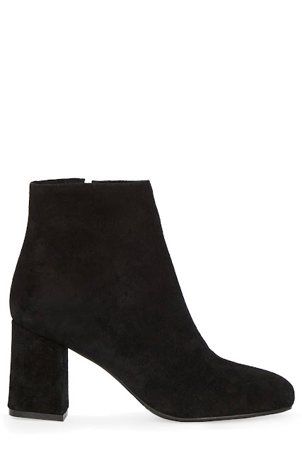 warehouse black suede ankle boots