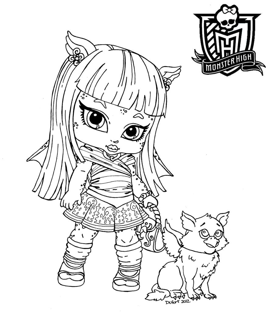 Dibujos para imprimir y pintar de monster high dibujos for Baby monster high color pages