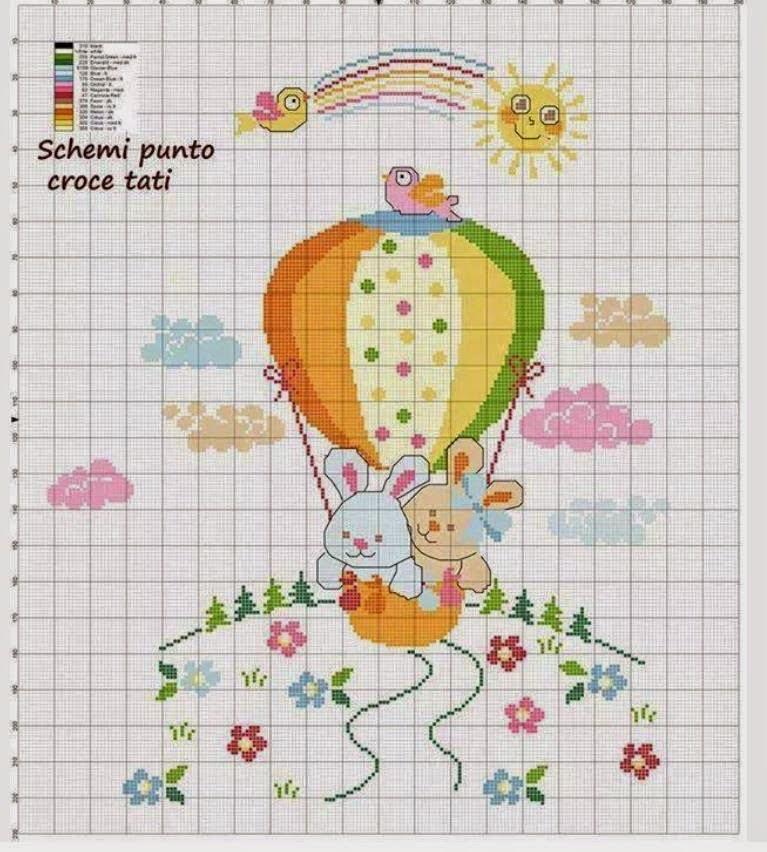 Copertine neonato punto croce bx14 regardsdefemmes for Idee punto croce neonati