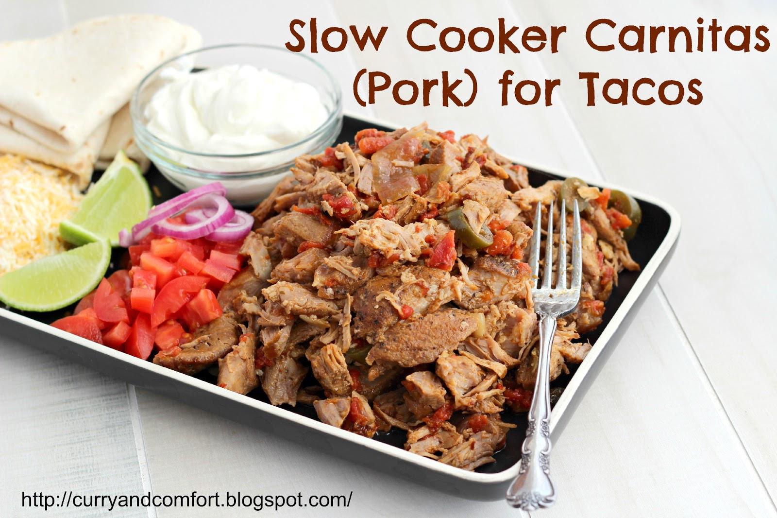 Kitchen Simmer: Slow Cooker Pork Carnita Tacos (Twice as ...