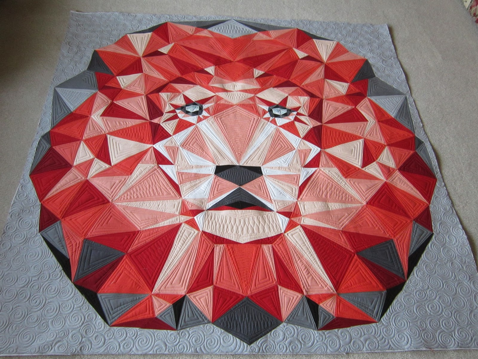 Quilting Is My Bliss: Lion Quilt - Jungle Abstractions : lion quilt pattern - Adamdwight.com