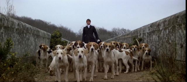 Damien in the fox hunt scene