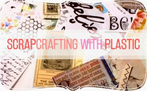 scrapcrafting with plastic